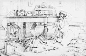 The discovery of chloroform as an anaesthetic by James Young Simpson.
