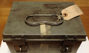 Sterilising box, originally engraved 'Miss Barry'