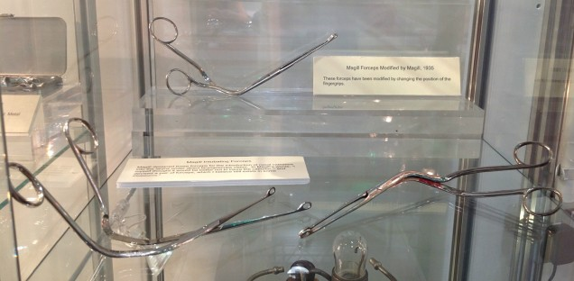 A series of Magill forceps, some modified by Magill