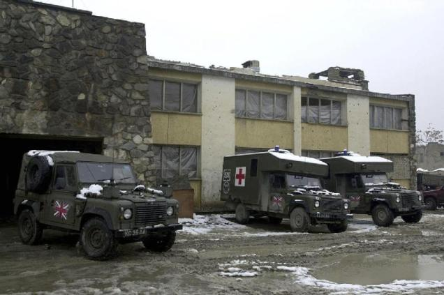 Military Vehicles in Kabul, 2002