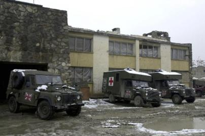 Military Vehicles in Kabul, 2002, © IWM (LAND-02-012-0920)