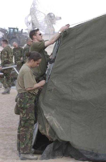 RAMC in Kuwait assembling mobile hospital, 2003