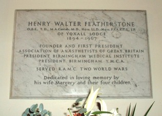 The Featherstone Memorial Tablet