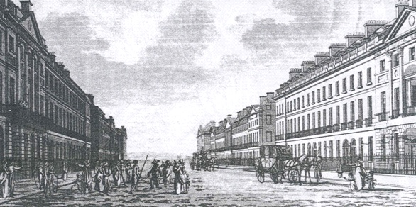 Portland Place in the 18th century