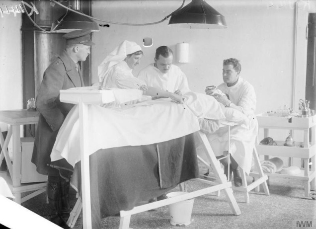 © IWM (Q 26636) Operating theatre of a Casualty Clearing Station RAMC