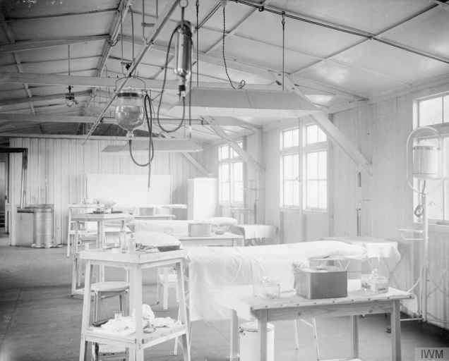 © IWM (Q 33441) Operating theatre suite at No 23 Casualty Clearing Station in France